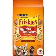 Friskies Tender & Crunchy Combo Dry Cat Food, 3.15-lb bag