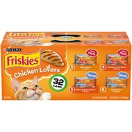 Friskies Chicken Lovers Variety Pack Canned Cat Food, 5.5-oz, case of 32