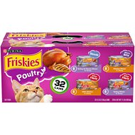 Friskies Poultry Variety Pack Canned Cat Food, 5.5-oz, case of 32