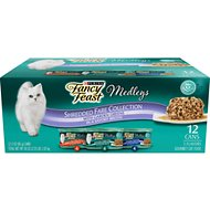 Fancy Feast Medleys Shredded Fare Collection Pack Canned Cat Food, 3-oz, case of 12