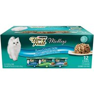 Fancy Feast Medleys Tuna Recipe Variety Collection Pack Canned Cat Food, 3-oz, case of 12