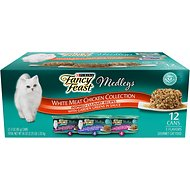 Fancy Feast Medleys White Meat Chicken Recipe Variety Collection Pack Canned Cat Food, 3-oz, case of 12