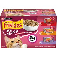 Friskies Prime Filets Meaty Favorites Variety Pack Canned Cat Food, 5.5-oz, case of 24