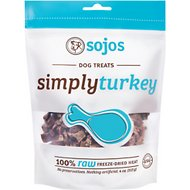 Sojos Simply Turkey Freeze-Dried Raw Dog Treats, 4-oz bag