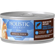 Holistic Select Ocean Fish & Tuna Pate Recipe Grain-Free Canned Cat & Kitten Food, 5.5-oz, case of 24