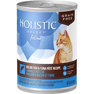 Holistic Select Ocean Fish & Tuna Pate Recipe Grain-Free Canned Cat & Kitten Food, 13-oz, case of 12