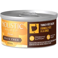 Holistic Select Turkey Pate Recipe Grain-Free Canned Cat & Kitten Food, 3-oz, case of 24