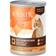 Holistic Select Turkey & Salmon Pate Recipe Grain-Free Canned Cat & Kitten Food, 13-oz, case of 12