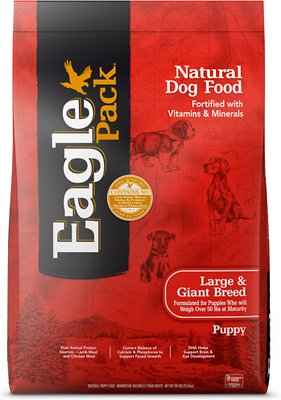 Eagle Pack Lamb, Chicken & Fish Recipe Large Breed Dry Puppy Food, 30-lb bag