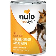 Nulo Freestyle Chicken, Carrots & Peas Recipe Grain-Free Canned Dog Food, 13-oz, case of 12