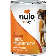Nulo Freestyle Turkey & Sweet Potato Recipe Grain-Free Canned Dog Food, 13-oz, case of 12