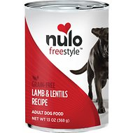 Nulo Freestyle Lamb & Lentils Recipe Grain-Free Canned Dog Food, 13-oz, case of 12