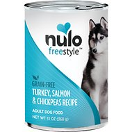 Nulo Freestyle Turkey, Salmon & Chickpeas Recipe Grain-Free Canned Dog Food, 13-oz, case of 12