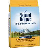 Natural Balance L.I.D. Limited Ingredient Diets Potato & Duck Formula Grain-Free Dry Dog Food, 26-lb bag