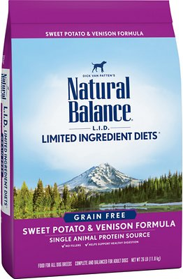5. Natural Balance Grain-free Limited Ingredient in Sweet Potato & Venison Recipe for Adult Dogs