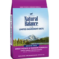 Natural Balance L.I.D. Limited Ingredient Diets Sweet Potato & Venison Formula Grain-Free Dry Dog Food, 26-lb bag