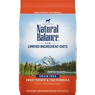 Natural Balance L.I.D. Limited Ingredient Diets Sweet Potato & Fish Formula Grain-Free Dry Dog Food, 4.5-lb bag
