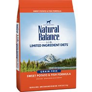 Natural Balance L.I.D. Limited Ingredient Diets Sweet Potato & Fish Formula Grain-Free Dry Dog Food, 26-lb bag