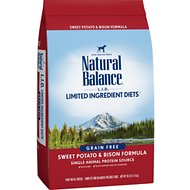 Natural Balance L.I.D. Limited Ingredient Diets Sweet Potato & Bison Formula Grain-Free Dry Dog Food, 26-lb bag