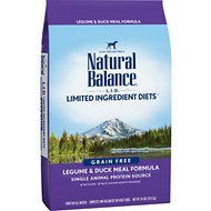 Natural Balance L.I.D. Limited Ingredient Diets Legume & Duck Meal Formula Grain-Free Dry Dog Food, 24-lb bag