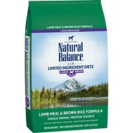 Natural Balance L.I.D. Limited Ingredient Diets Lamb & Brown Rice Formula Large Breed Dry Dog Food, 14-lb bag