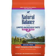 Natural Balance L.I.D. Limited Ingredient Diets Sweet Potato & Fish Formula Small Breed Bites Grain-Free Dry Dog Food, 4.5-lb bag