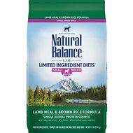 Natural Balance L.I.D. Limited Ingredient Diets Lamb Meal & Brown Rice Formula Small Breed Bites Dry Dog Food, 4.5-lb bag