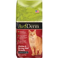 AvoDerm Natural Chicken & Herring Meal Formula Adult Dry Cat Food, 6-lb bag