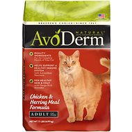 AvoDerm Natural Chicken & Herring Meal Formula Adult Dry Cat Food, 11-lb bag