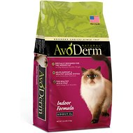 AvoDerm Natural Indoor Hairball Care Formula Adult Dry Cat Food, 3.5-lb bag