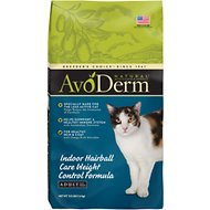 AvoDerm Natural Indoor Weight Control Formula with Hairball Relief Adult Dry Cat Food, 3.5-lb bag