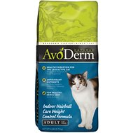 AvoDerm Natural Indoor Weight Control Formula with Hairball Relief Adult Dry Cat Food, 6-lb bag