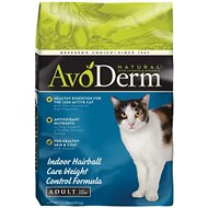 AvoDerm Natural Indoor Weight Control Formula with Hairball Relief Adult Dry Cat Food, 11-lb bag