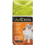 AvoDerm Natural Kitten Chicken & Herring Meal Formula Dry Cat Food, 6-lb bag