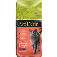 AvoDerm Natural Salmon & Brown Rice Formula Adult Dry Cat Food, 6-lb bag