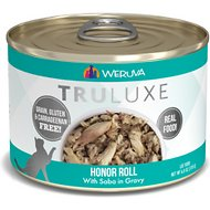 Weruva Truluxe Honor Roll with Saba in Gravy Grain-Free Canned Cat Food, 6-oz, case of 24