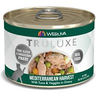 Weruva Truluxe Mediterranean Harvest with Tuna & Veggies in Gravy Grain-Free Canned Cat Food, 6-oz, case of 24
