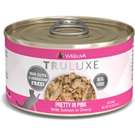 Weruva Truluxe Pretty In Pink with Salmon in Gravy Grain-Free Canned Cat Food, 3-oz, case of 24