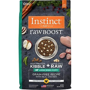 Instinct Raw Boost Large Breed Puppy Grain-Free Recipe with Real Chicken & Freeze-Dried Raw Pieces Dry Dog Food, 20-lb bag
