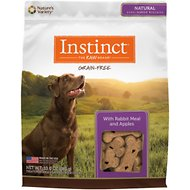 Instinct by Nature's Variety Grain Free with Rabbit Meal & Apples Oven-Baked Biscuit Dog Treats, 10-oz bag