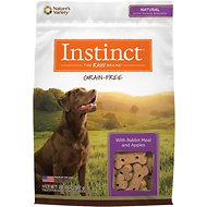 Instinct by Nature's Variety Grain-Free Biscuits with Rabbit Meal & Apples Dog Treats, 20-oz bag