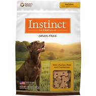 Instinct by Nature's Variety Grain Free with Chicken Meal & Cranberries Oven-Baked Biscuit Dog Treats, 20-oz bag