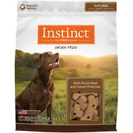 Instinct by Nature's Variety Grain Free with Duck Meal & Sweet Potatoes Oven-Baked Biscuit Dog Treats, 10-oz bag