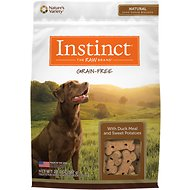 Instinct by Nature's Variety Grain Free with Duck Meal & Sweet Potatoes Oven-Baked Biscuit Dog Treats, 20-oz bag
