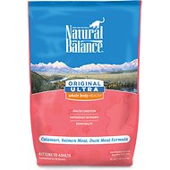 Natural Balance Original Ultra Whole Body Health Calamari, Salmon Meal & Duck Meal Formula Dry Cat Food, 5-lb bag