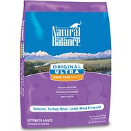 Natural Balance Original Ultra Whole Body Health Venison, Turkey Meal & Lamb Meal Formula Dry Cat Food, 10-lb bag