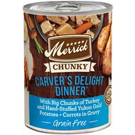 Merrick Chunky Grain-Free Carver's Delight Dinner Canned Dog Food, 12.7-oz, case of 12