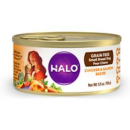 Halo Chicken & Salmon Recipe Grain-Free Small Breed Canned Dog Food, 5.5-oz, case of 12