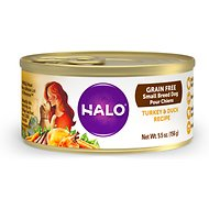 Halo Turkey & Duck Recipe Grain-Free Small Breed Canned Dog Food, 5.5-oz, case of 12