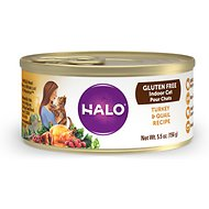 Halo Turkey & Quail Recipe Gluten-Free Indoor Cat Canned Cat Food, 5.5-oz, case of 12